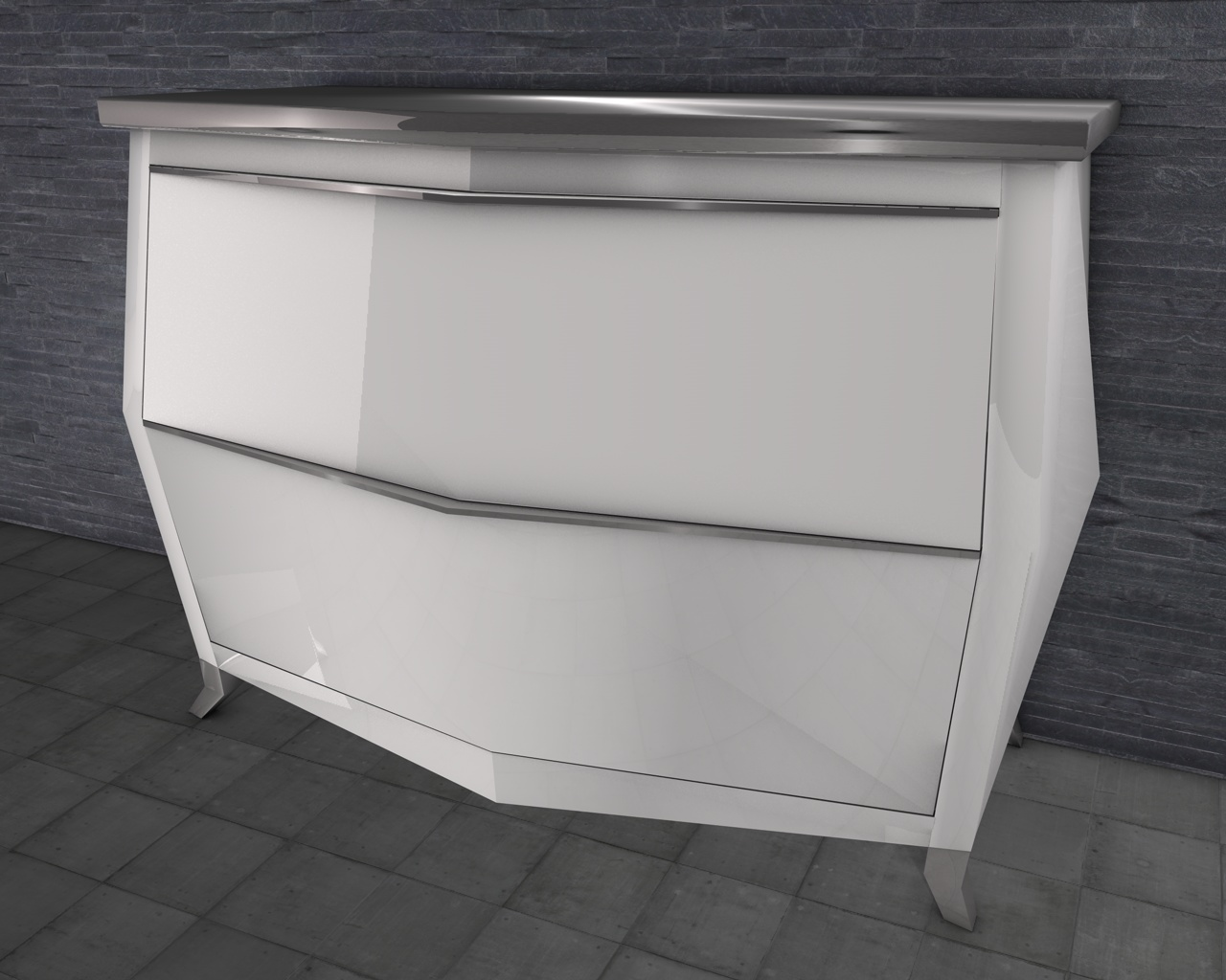 Cr ation meubles contemporains yoan polizzi commode - Commode contemporaine laquee ...