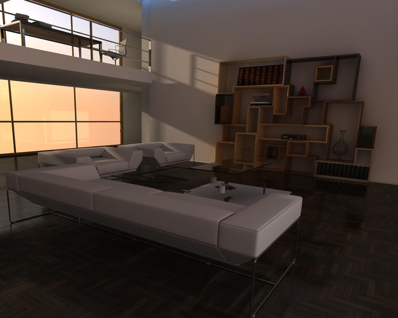 Cr ation meubles contemporains yoan polizzi int rieurs for Salle de sejour complete